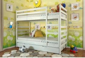 Двоярусне дерев`яне ліжко Ріо без шухляд (Сосна)