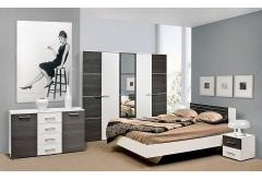 Комплект Спальні Круїз з 5-ти дверною шафою (без каркаса та матраца)
