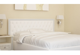 Ліжко Богера-3 з Мякою спинкою (ромби) з ламеллю без механізма