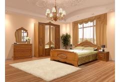 Комплект Спальні Катрін з 4-ох дверною шафою (без каркаса та матраца)