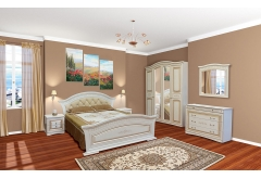 Комплект Спальні Ніколь з 4-ох дверною шафою (без каркаса та матраца)