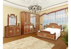 Комплект Спальні Жасмін з 6-ти дверною шафою (без каркаса та матраца)