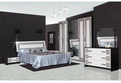 Комплект Спальні Бася Нова з 6-ти дверною шафою (без каркаса та матраца)