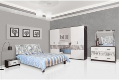 Комплект Спальні Бася Нова з 4-ох дверною шафою (без каркаса та матраца)