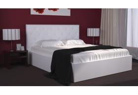 Ліжко Богера-5 з Мякою спинкою (ромби) з ламеллю без механізма