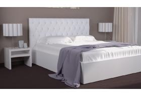 Ліжко Богера-2 з Мякою спинкою (ромби) з ламеллю без механізма
