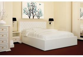 Ліжко Богера-4 з Мякою спинкою (квадрати) з ламеллю без механізма