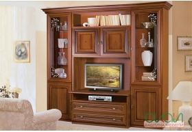 Вітальня Капрі з вітриною ТВ