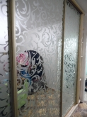 Шафа-купе ДСП: Береза Майнау + піскоструйний малюнок