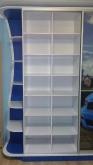 Шафа-купе ДСП: Синій + Білий + фотодрук