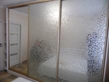 Шафа-купе ДСП: Німфеа Альба гладка + піскоструйний малюнок