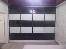 Шафа-купе ДСП: Німфеа Aльба гладка + оракал чорно білий