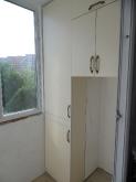 Шафа на балкон ДСП: Ваніль