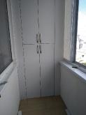 Шафа ДСП: Шафа на балкон Попелястий