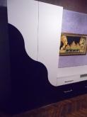 Вітальні МДФ: Білий глянець + Чорний глянець