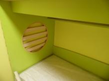 Ліжко двоярусне: Ліжко двоярусне ДСП Лайм + Дуб Молочний