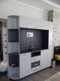 Вітальня МДФ: Фарбована стінка у вітальню RAL7047 Telegrey 4RAL7015 Slate grey