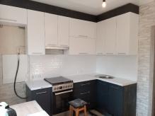 Кухня МДФ:  Графіт Матовий 001 + Білий Супермат  3т-2