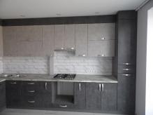 Кухня МДФ: Мармур темний 294-4 + Бетон сірий 130