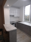 Кухня МДФ: Бетон металік 3020(т) +Білий глянець MCM0019003G