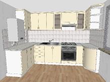 Кухня МДФ: Горіх мілано