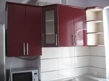 Кухня МДФ: Бордовий глянець