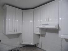 Кухня МДФ: Білий глянець Луї