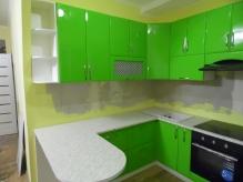 Кухня МДФ: Зелене Яблоко Глянець