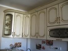 Кухня МДФ: Ясен + патина золота