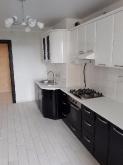 Кухня МДФ: Чорний + Білий глянець
