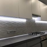 Кухня МДФ: Фарбований Антивандальний фасад Телегрей 2 + Білий RAL