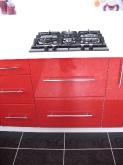 Кухня МДФ: Флора червона золото