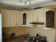 Кухня МДФ: Льон світлий + Льон темний