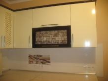 Кухня МДФ: Мокка гл. + Ваніль гл.