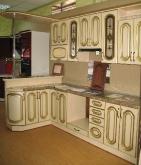 Кухня МДФ: Ясен + патина золота Фреза №11