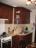 Кухня МДФ: Кедр Люкс + патина чорна
