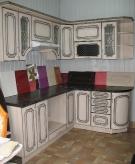 Кухня: МДФ: Ясень патина + патина чорна