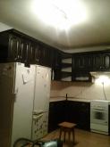 Кухня: МДФ: Темний горіх + Чорна патина