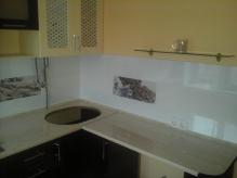 Кухня: МДФ: Мокка глянець + Ваніль глянець