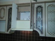 Кухня МДФ: Береза (патина) + патина коричнева