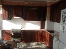 Кухня МДФ: Кедер люкс + патина чорна