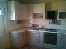 Кухня МДФ: Сонома світла + Шовк білий