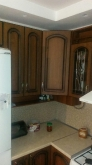 Кухня МДФ: Дуб золотий + патина чорна
