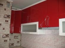 Кухня МДФ: Червоний глянець + Білий глянець