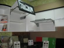 Кухня МДФ: Техно чорне + техно платина