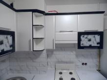 Кухня МДФ: Техно Чорний + Техно Платина