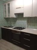 Кухня МДФ: Венге темне + Білий шовк