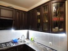 Кухня МДФ: Горіх Канелето + чорна патина