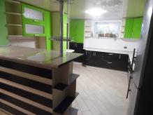 Кухня МДФ: Зелене яблуко глянець+Шоколад глянець(Весь декор)