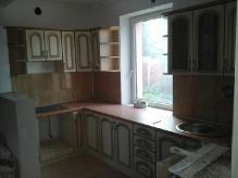 Кухня МДФ: Ясен Жемчуг + золота патина